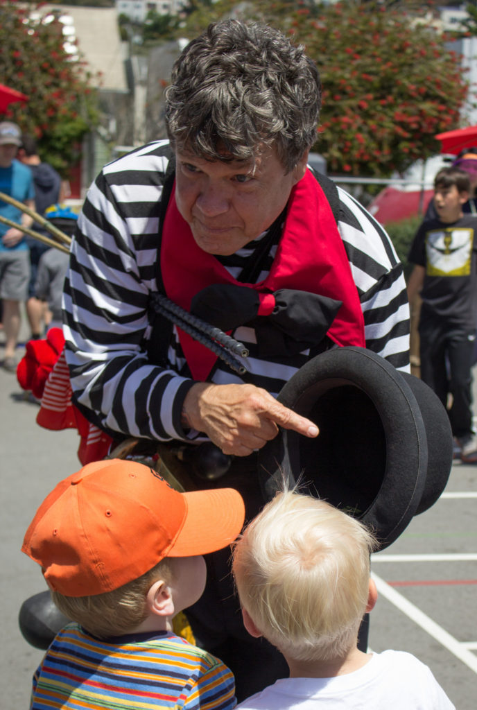 Circus-in-a-hat: storytelling to spark imagination.