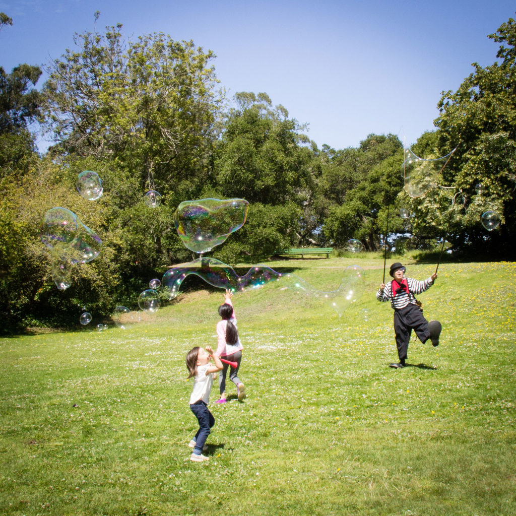 Bubble fun in Golden Gate Park.