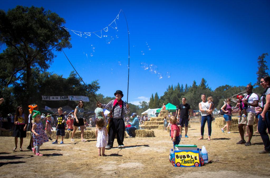 Bubbling at the Gravenstein Apple Festival.